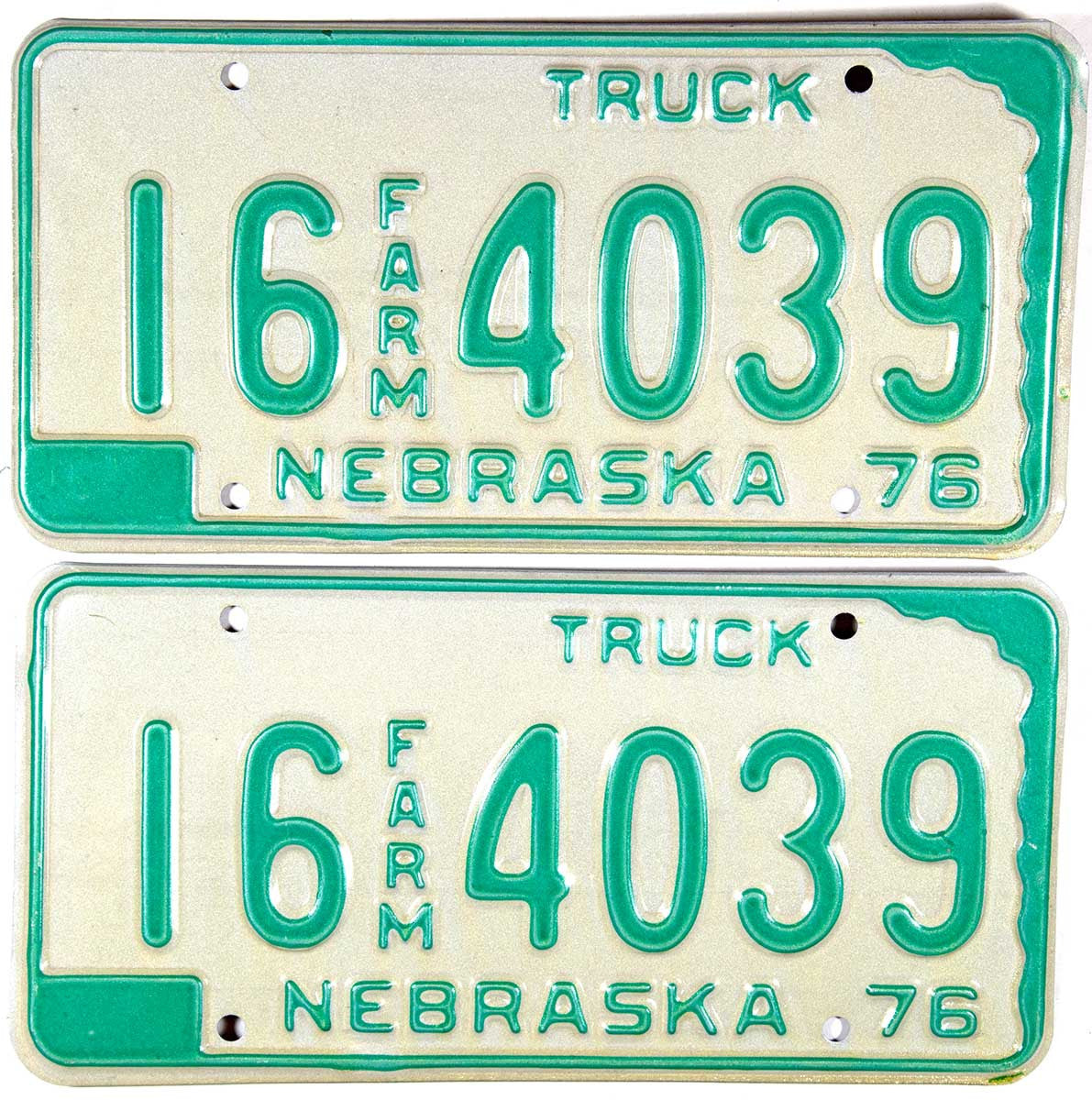 1976 Nebraska Farm License Plates