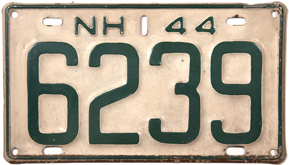 1944 New Hampshire License Plate