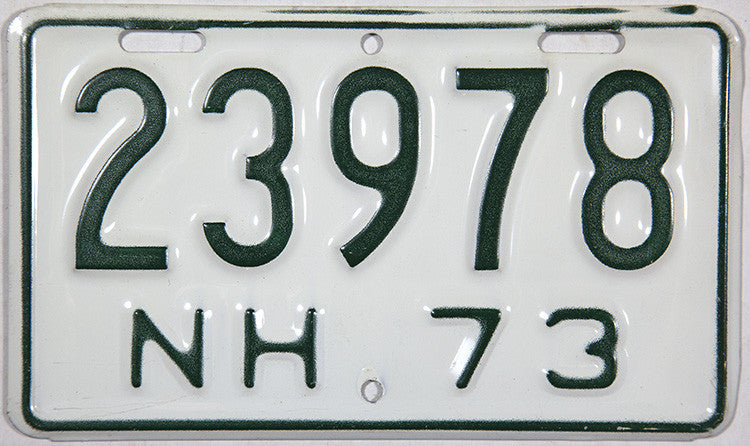 1973 New Hampshire Motorcycle License Plates
