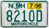 1996 New Hampshire Motorcycle License Plates