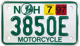 1997 New Hampshire Motorcycle License Plate
