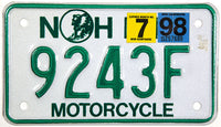 1998 New Hampshire Motorcycle License Plate