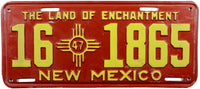 1947 New Mexico License Plate