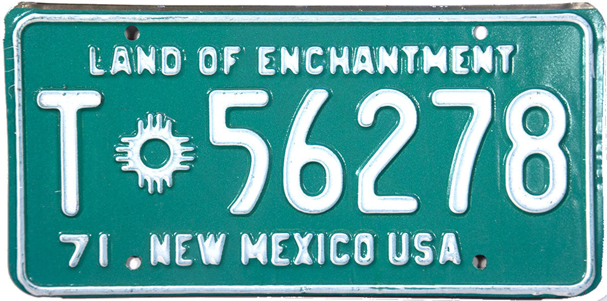 1971 New Mexico Trailer License Plate