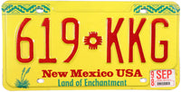 1998 New Mexico License Plate