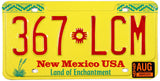 1999 New Mexico License Plate