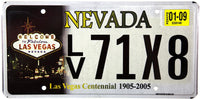 2009 Nevada Las Vegas Centennial License Plates