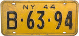 1944 New York License Plate