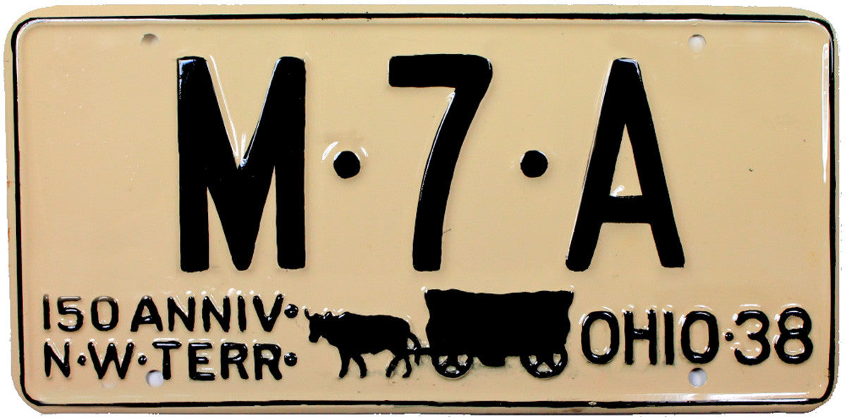 1938 Ohio Refinished License Plate