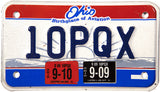 2010 Ohio Motorcycle License Plate