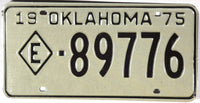 1975 Oklahoma Exempt License Plate
