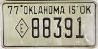 1977 Oklahoma Exempt License Plate