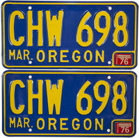 1976 Oregon License Plates