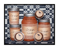 Orange Clove scented candles, tarts, sprays and potpourri from Black Crow Candle company