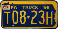1961 Pennsylvania Truck License Plate