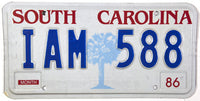 1986 South Carolina License Plate