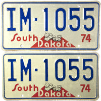 1974 South Dakota Implement License Plates