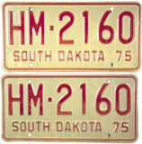 1975 South Dakota Highway Maintenance License Plates