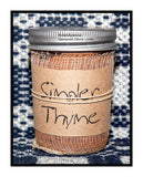 Simpler Thyme Scented Candles, Tarts, Room Spray by Black Crow