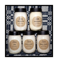 Soy Palm Blended Wax Scented Pint Candle Jar by The Old Candle Barn