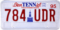 1995 Tennessee Bicentennial License Plate