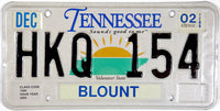 2002 Tennessee License Plate