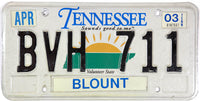 2003 Tennessee License Plate