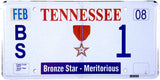 2008 Tennessee Bronze Star #1 License Plate