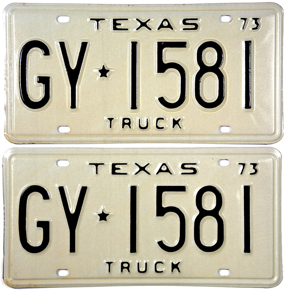 1973 Texas Truck License Plates