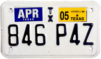 2005 Texas Motorcycle License Plate