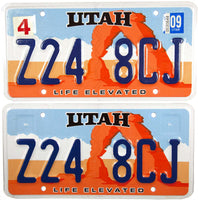 2009 Utah Life Elevated License Plates