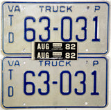 1982 Virginia Power Unit License Plates