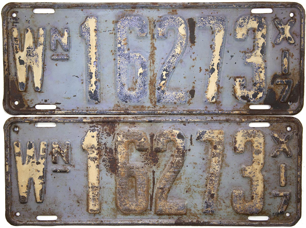 1917 Washington License Plates