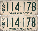 1927 Washington License Plates