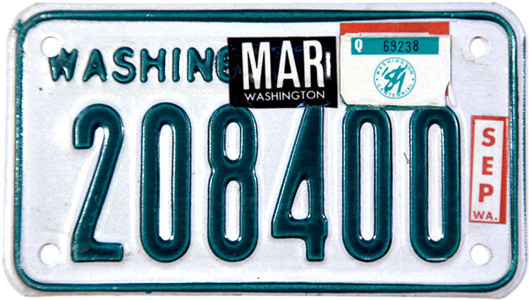 1989 Washington Motorcycle License Plates
