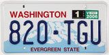 A 2006 scenic Washington car License Plate