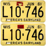 1962 Wisconsin License Plates