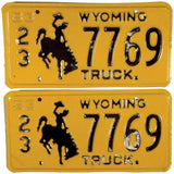 1983 Wyoming Truck License Plate