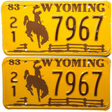 1983 Wyoming License Plates