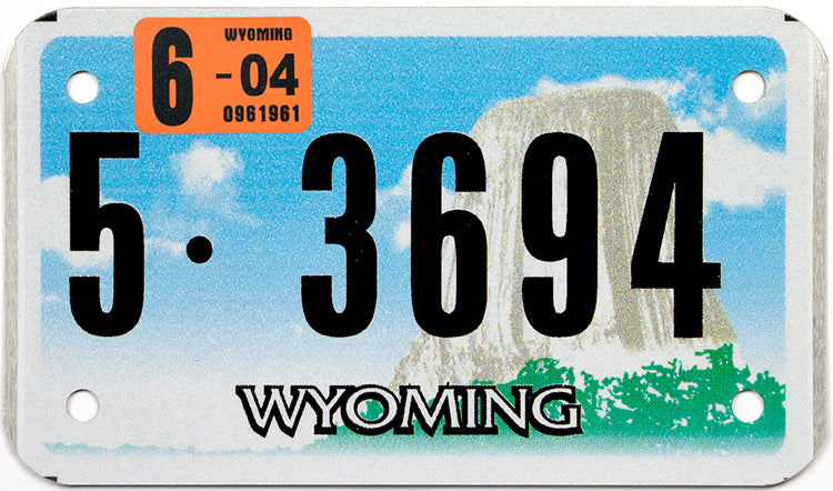 2004 Wyoming Motorcycle License Plate
