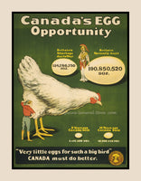 A premium quality print of Canada Egg Industry War Poster