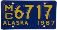1967 Alaska Motorcycle License Plate