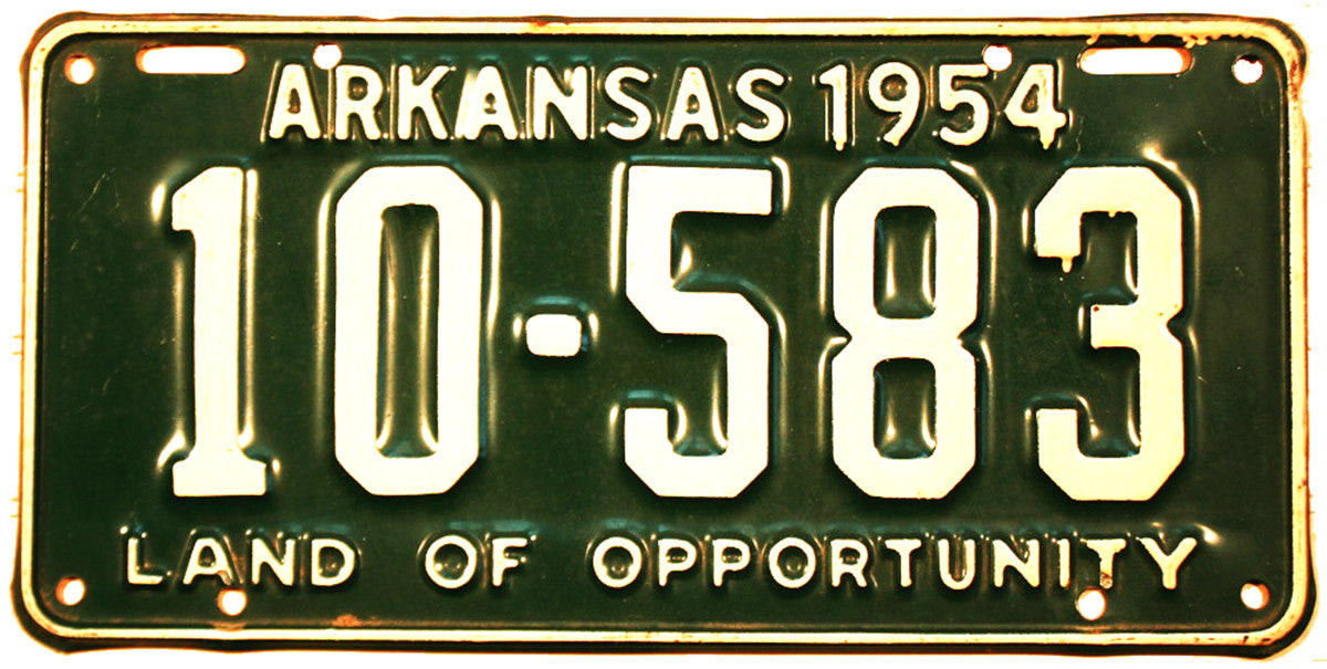 1954 Arkansas License Plate