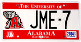 2004 Alabama University License Plate