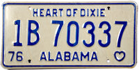 DMV 1976 Alabama License Plate