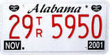 2001 Alabama Truck License Plate