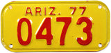 1977 Arizona Moped License Plate