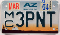 2004 Arizona Motorcycle License Plate