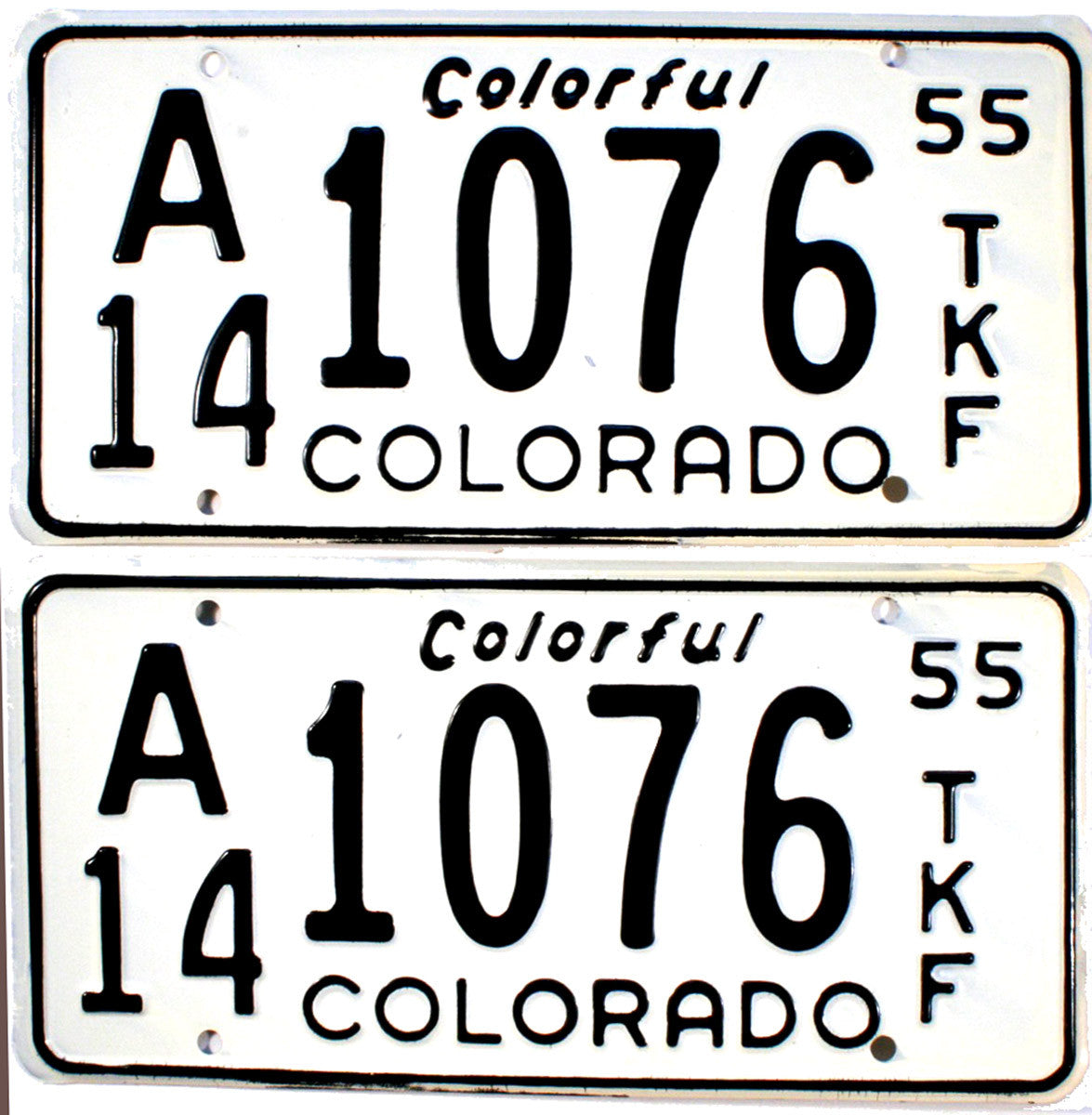 1955 Colorado Farm Truck License Plates
