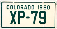 1960 Colorado Motorcycle License Plate